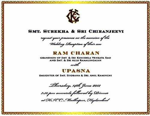 Ram-Charan-and-Upasana-Wedding-card