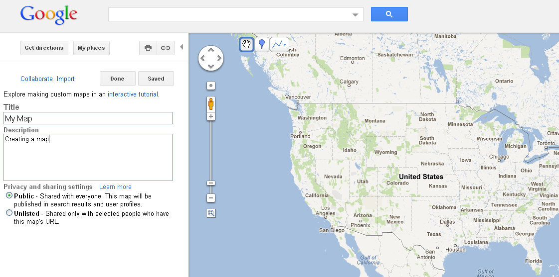 how to make your own map in google maps