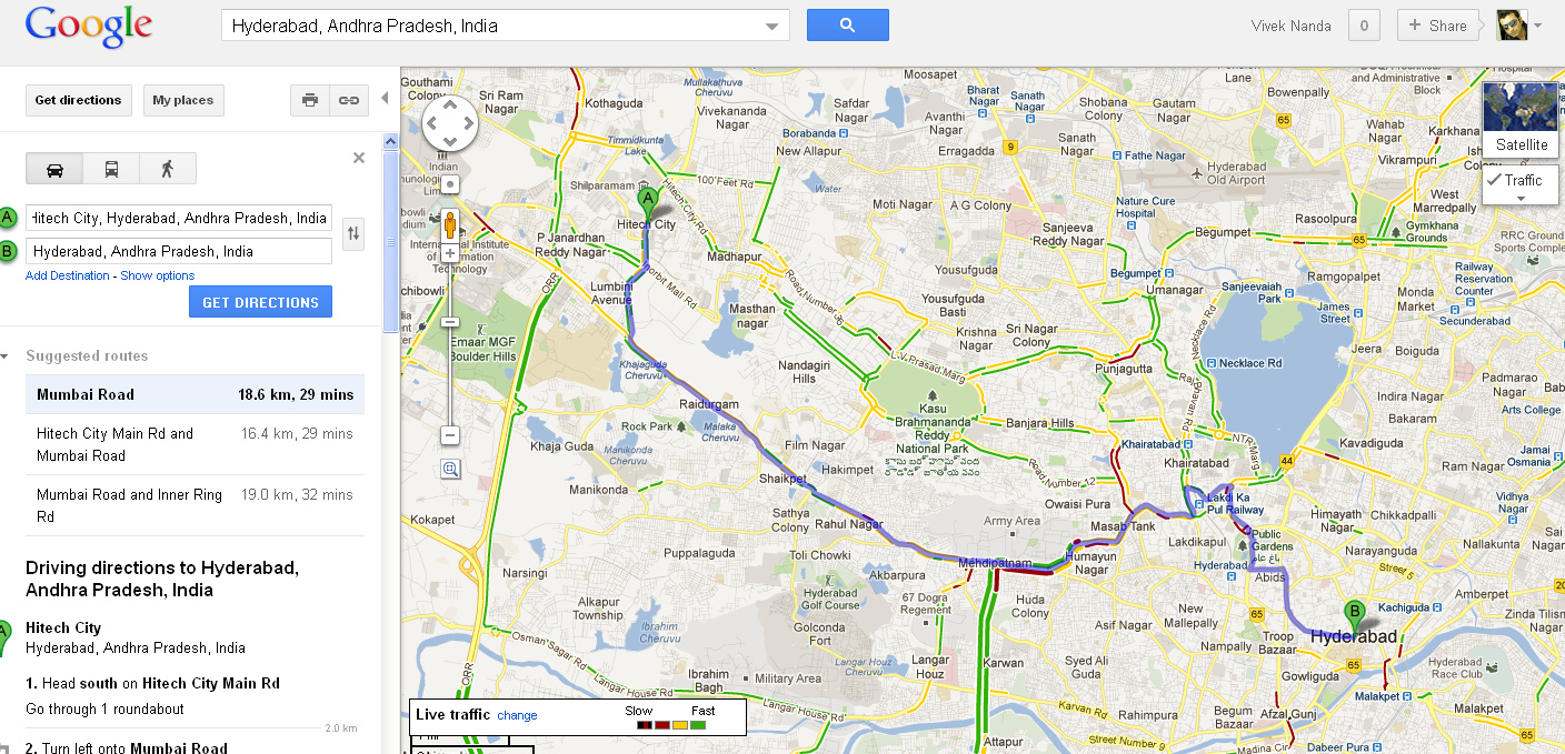 Now Google Maps Offer Navigation And Live Traffic Data For India